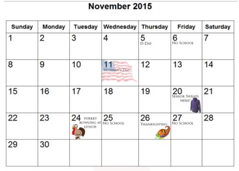 November senior activities