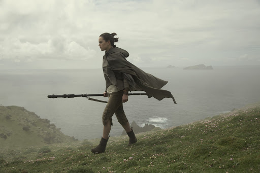 "Daisy Ridley in ""Star Wars: Episode VIII: The Last Jedi."" (David James/Lucasfilm Ltd.)"