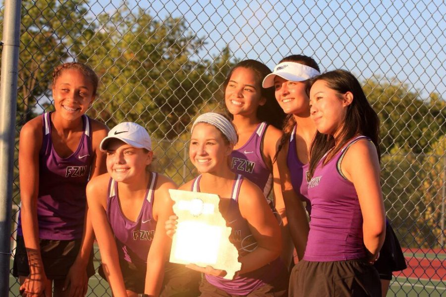 Girls+tennis+5-2+district+win+against+against+Wentzville+Liberty+High+School.