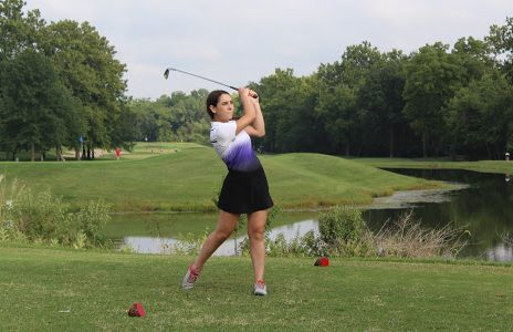 Maggie Krpan playing at the home course.