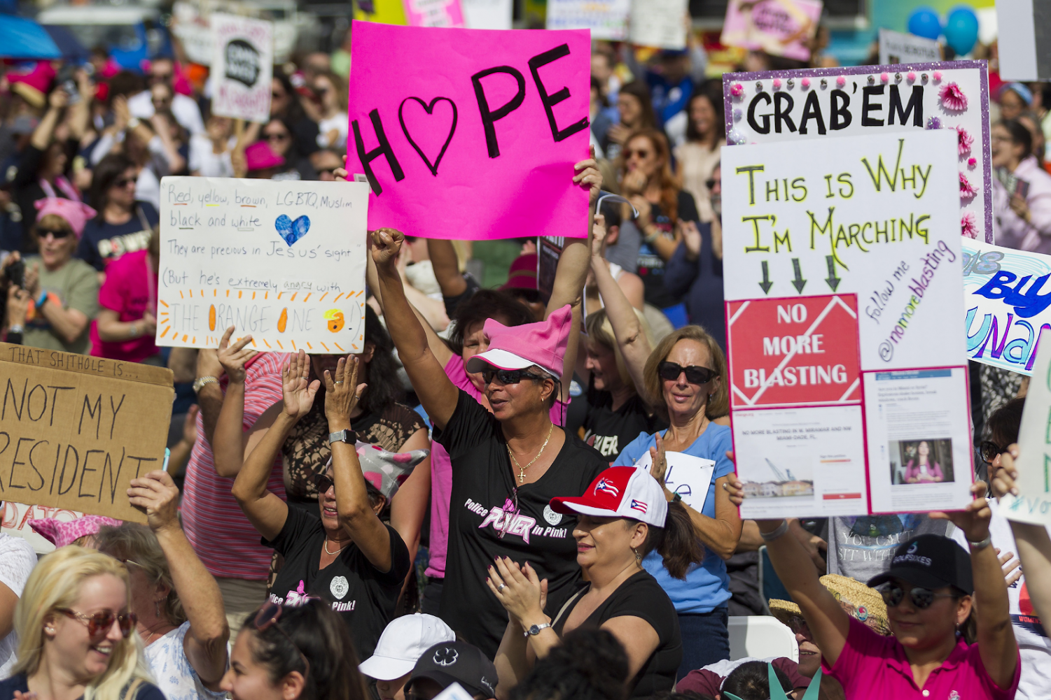 The first annual Woman's March was held on Jan 21, 2017 on every continent.