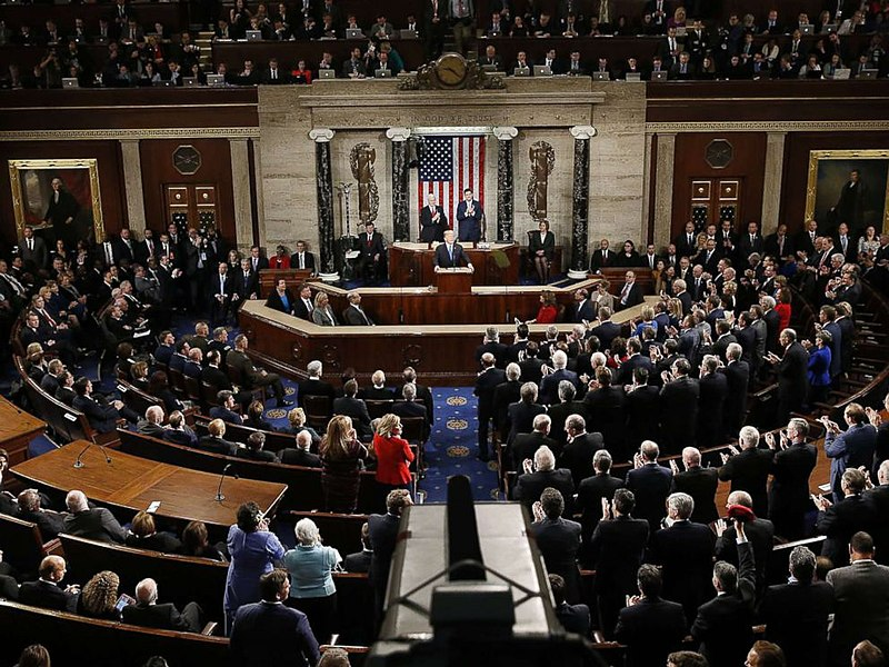 President Donald Trump gave the State of the Union address on Feb 5 after the government reopened.