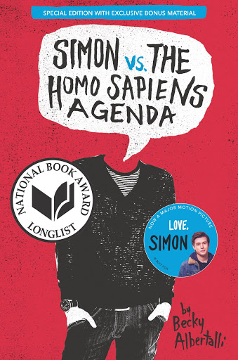Book cover of the critically acclaimed book Simon vs The Homo Sapiens Agenda