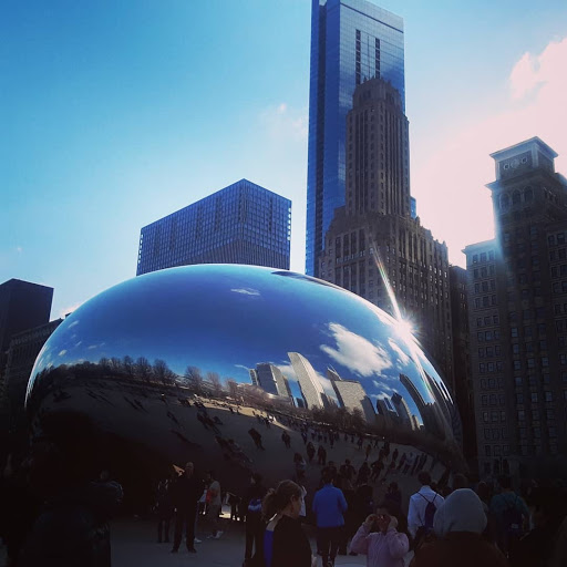 The orchestra students had the chance to visit famous Chicago landmarks.
