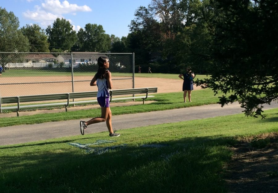 Freshman Alexandra Springs is running competitively for her first time this year.