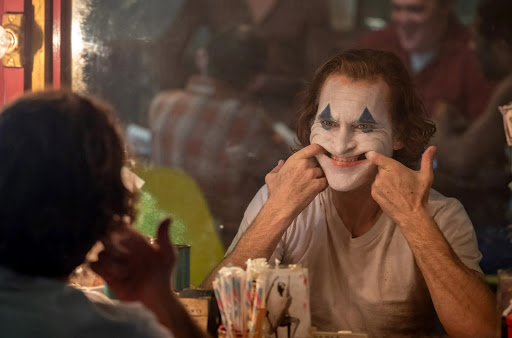 Actor Joaquin Phoenix starring as his own version of the Joker in the new movie.