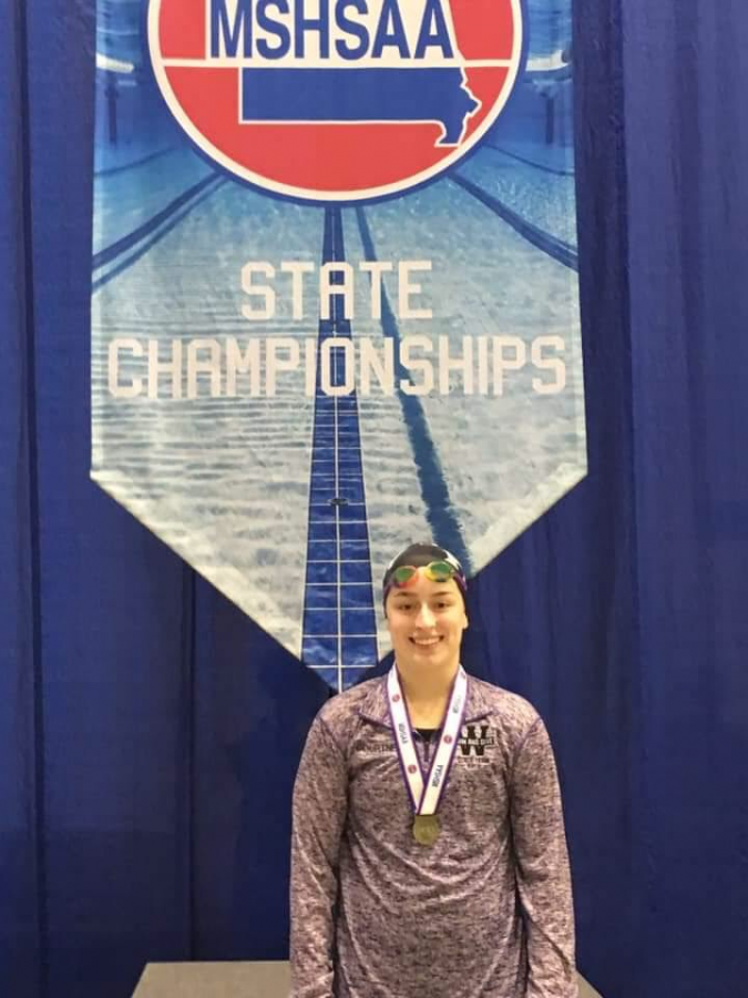 Courtney Harris at the state championships in 2018