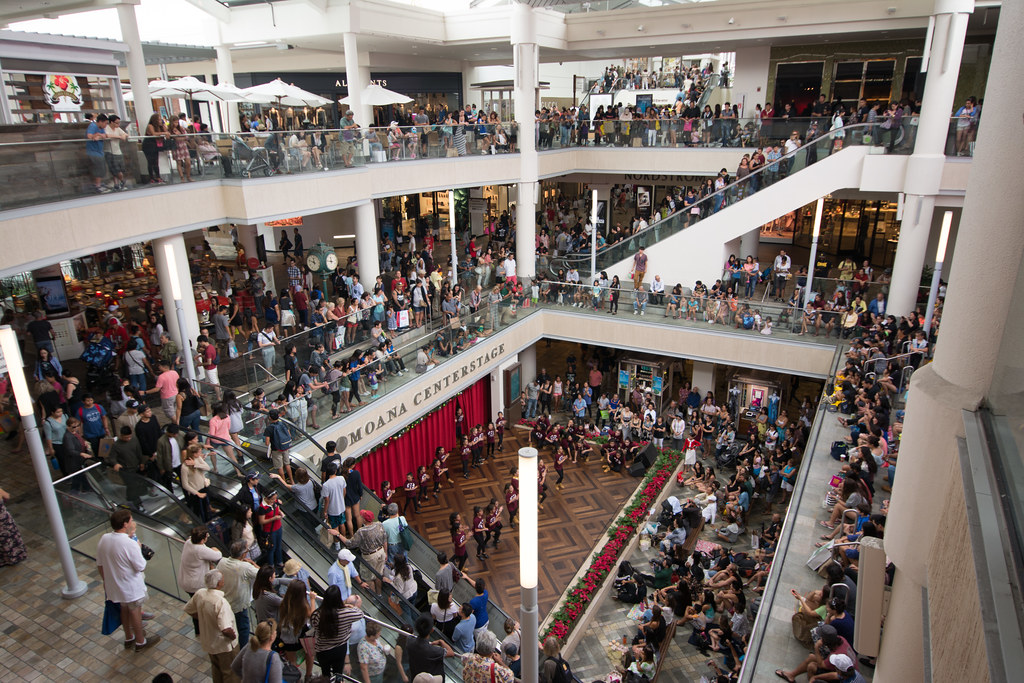 Consumers swarm a mall on Black Friday