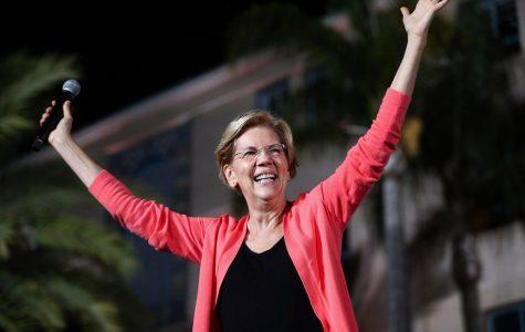 Elizabeth Warren speaks at a town hall meeting.