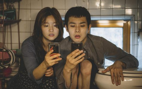 So-dam Park (left) and Woo-sik Choi in a scene from