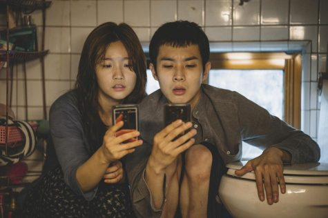 "So-dam Park (left) and Woo-sik Choi in a scene from ""Parasite."" (Neon/TNS)"
