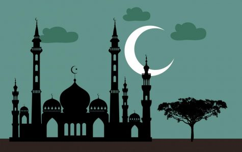 clipart of a mosque at night time