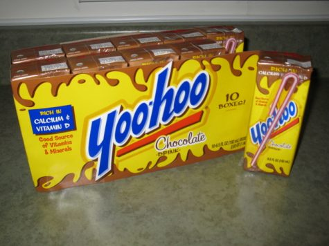 Yoo-Hoo chocolate milk, a poplar snack from  the 2000s