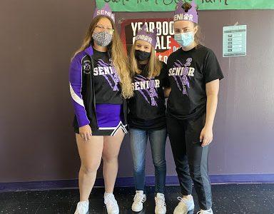 Seniors Addison Jett, Olivia Moore and Natalie Rodabough.
