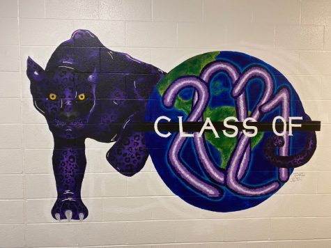 The mural painted in the hallway to make sure the class of 2021 is remembered.