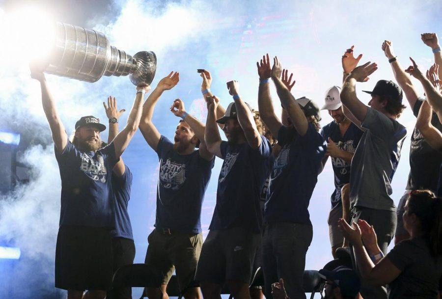 The+Tampa+Bay+Lightning+celebrates+their+victory+of+the+Stanley+Cup