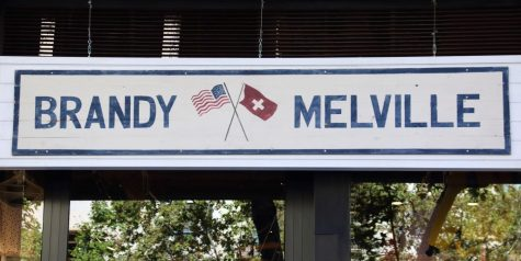 Brandy Melville storefront located in the city. The photo features its branding.