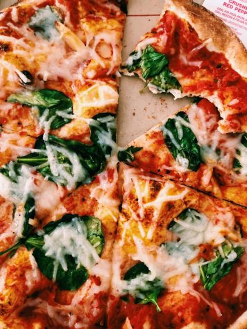 A nice meat alternative. Pizza is a great way to still get nutrients when eating plant based.