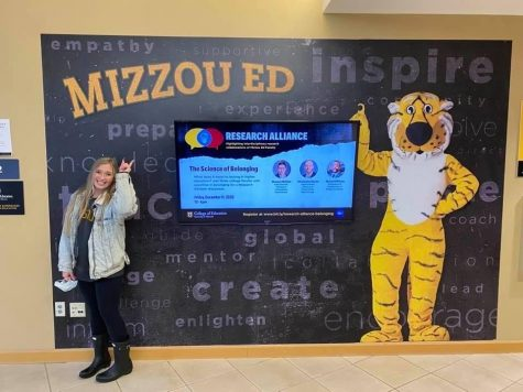 Paige Fitton at her college visit to Mizzou.