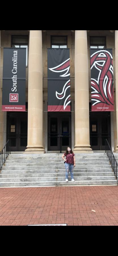 Senior Sami Bowlin taking a college tour of the University of South Carolina.