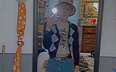 Hosack showing off his alternative fashion.