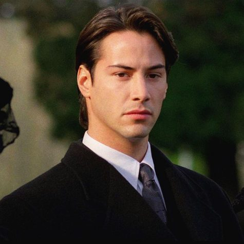 Actor Keanu Reeves poses.