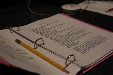 The script of Radium Girls is about a hundred pages and each Crew Head has their own copy to make notes.