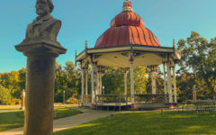 A picture of the Music Stand, a common wedding venue, at Tower Grove Park in St. Louis.